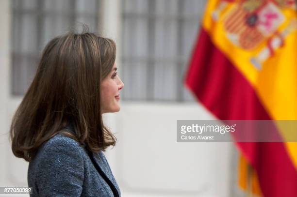 Queen Letizia of Spain attends the 'Reina Letizia' Disability 2016 and 2017 awards at the El Pardo Palace on November 21 2017 in Madrid Spain