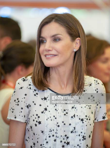 Queen Letizia of Spain attends the Rescatadores de Talento conference at the Hotel Camiral on June 29 2018 in Girona Spain