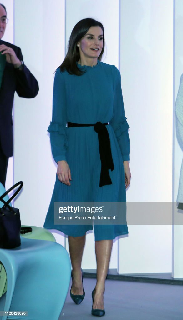 ESP: Queen Letizia of Spain Attends Ibedrola Foundation Scholarships