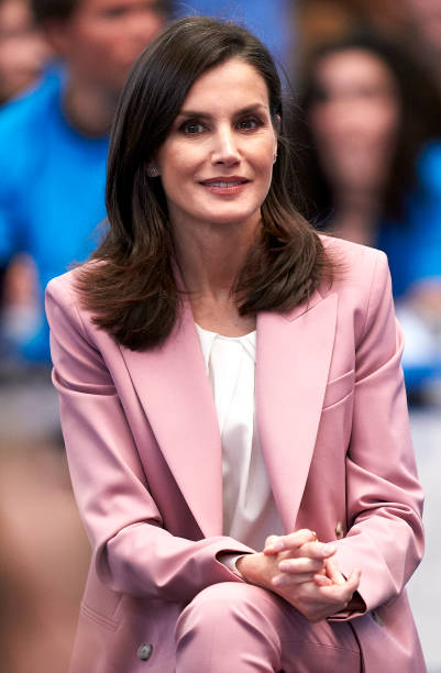 ESP: Queen Letizia Of Spain Attends The Scientific Research Winner Announcement On 'Princesa de Girona 2020' Foundation Awards