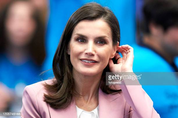 Queen Letizia Of Spain Attends The Scientific Research Winner Announcement On 'Princesa de Girona 2020' Foundation Awards on February 12 2020 in...