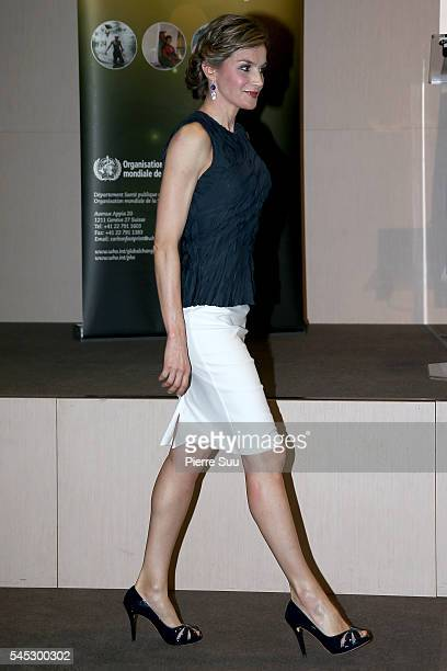 Queen Letizia of Spain attends the The Second Global Conference on Health and Climate on July 7 2016 in Paris France