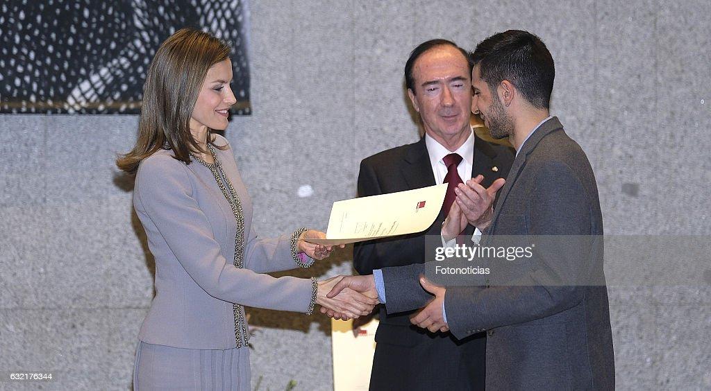 Queen Letizia of Spain Attends 'Tomas Francisco Prieto' Award : News Photo