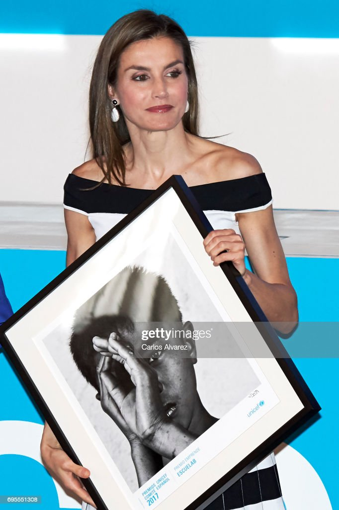 Queen Letizia of Spain attends the UNICEF awards 2017 at CESIC on June 13, 2017 in Madrid, Spain.