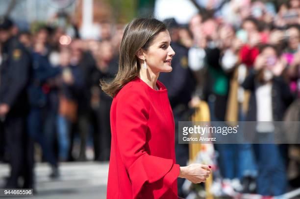 Queen Letizia of Spain attends the ÔV Campeonatos Autonomicos de Formation Profesional AndaluciaskillsÕ at El Carmen University on April 11 2018 in...