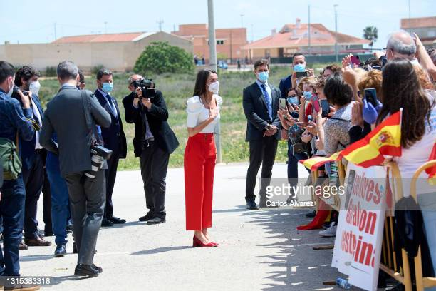 Queen Letizia of Spain attends the VI Educational Congress of Rare Diseases at the CPEIBas 'Guadalentin' on April 30, 2021 in Totana, Spain.