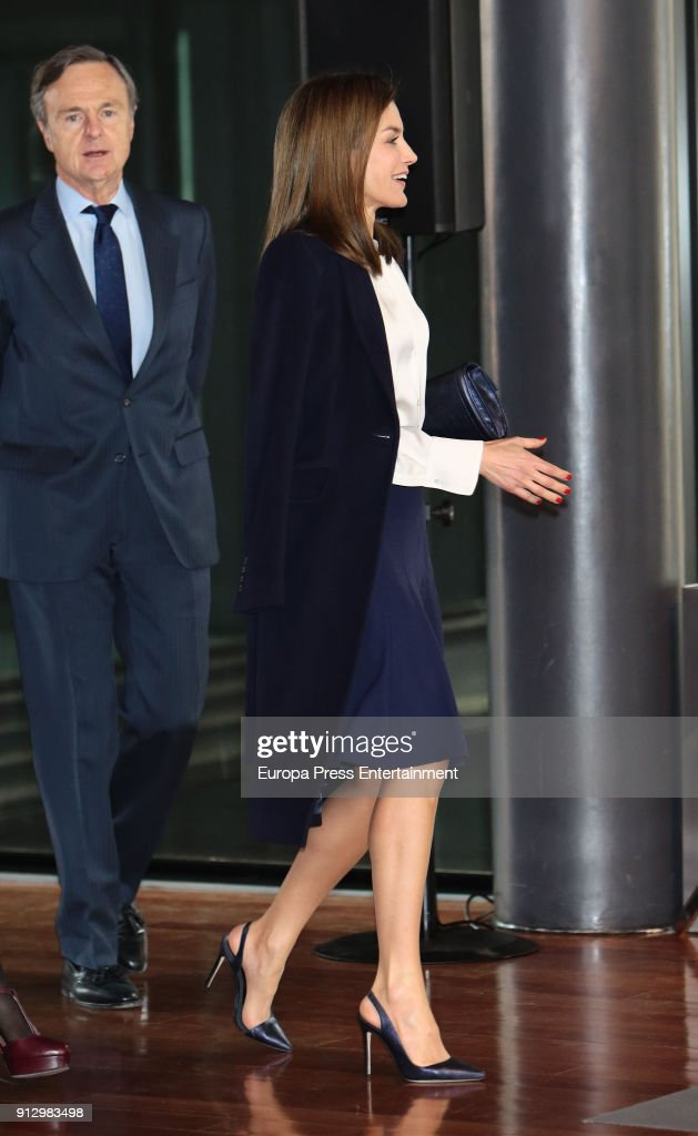 Queen Letizia Of Spain Attends Forum Against Cancer