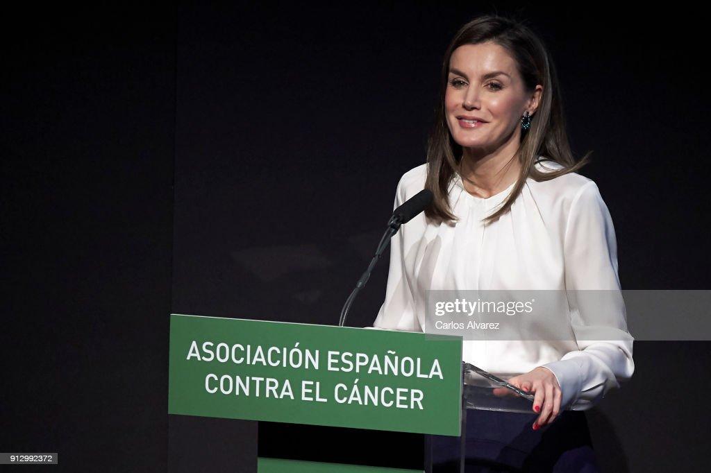 Queen Letizia Of Spain Attends Forum Against Cancer