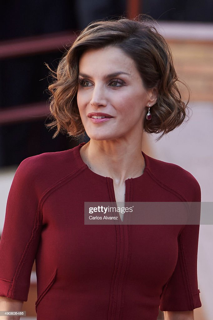 Queen Letizia of Spain Attends Vocational Training Opening Course : News Photo