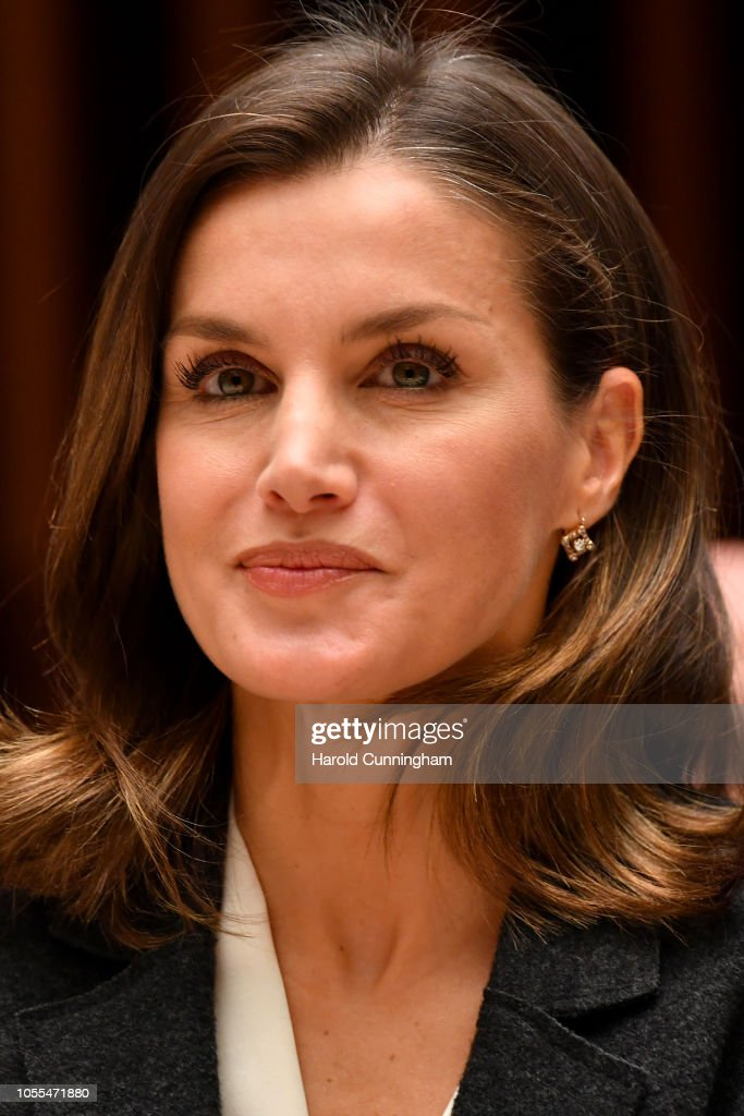 Queen Letizia of Spain Attends A Work Meeting at the World Heath Organization's Headquarters In Geneva : Foto di attualità