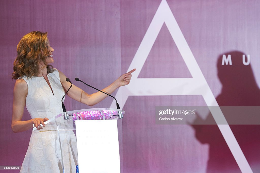 Queen Letizia of Spain (L) attends the XXV FEDEPE awards ceremony at Retiro Park on July 26, 2016 in Madrid, Spain.