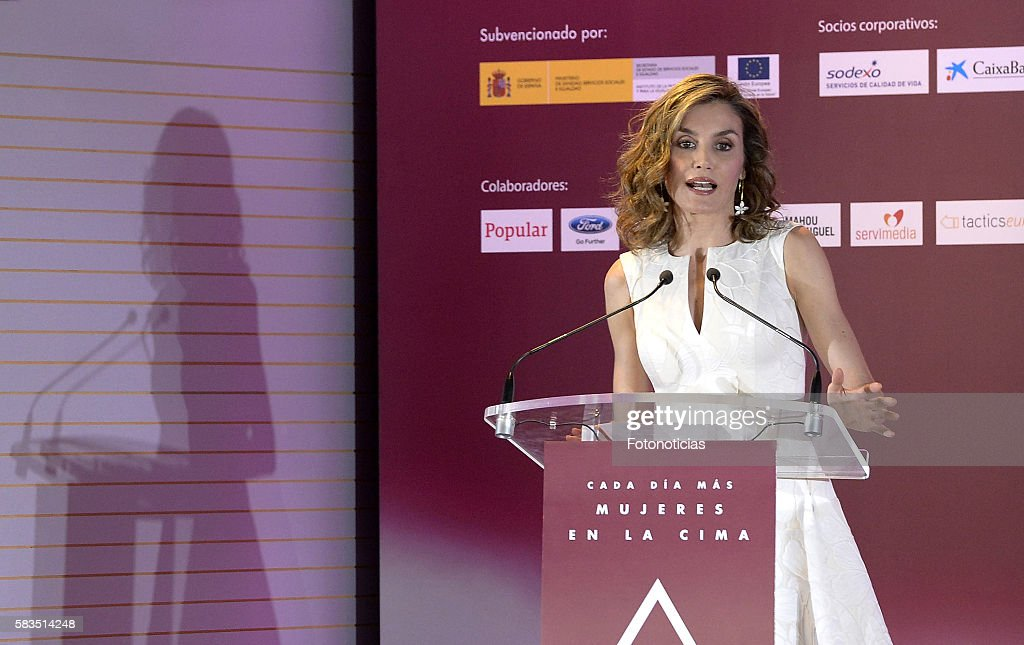 Queen Letizia of Spain attends the XXV FEDEPE awards ceremony at Retiro Park on July 26, 2016 in Madrid, Spain.