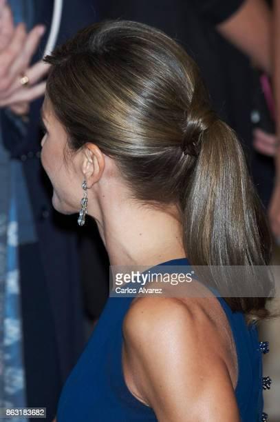 Queen Letizia of Spain attends the 'XXVI Musical Week' closing concert at the Principe Felipe Auditorium during the 'Princess of Asturias 2017 Awards...