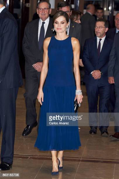 Queen Letizia of Spain attends the 'XXVI Musical Week' closing concert at the Principe Felipe Auditorium during the 'Princess of Asturias 2017 Awards...
