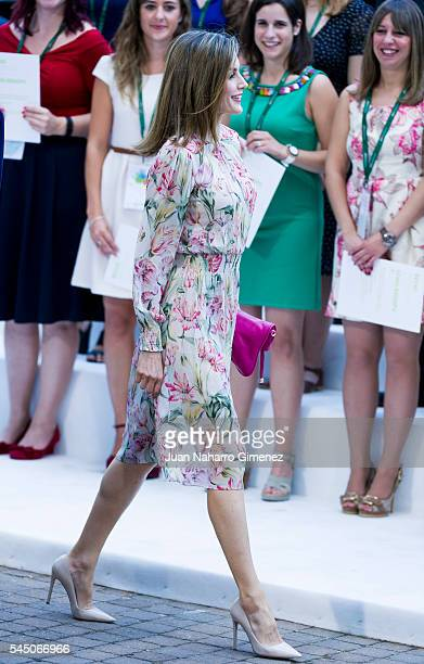 Queen Letizia of Spain attends to deliver Iberdrola Foundation Scholarships at Iberdrola building on July 5 2016 in Madrid Spain