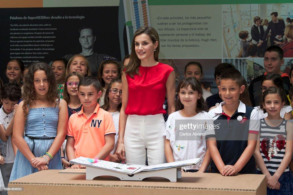 Queen Letizia of Spain Attends 'Toma La Palabra' In Asturias : News Photo