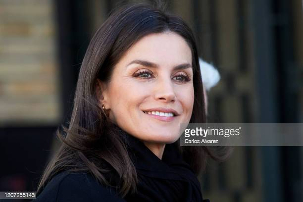 Queen Letizia of Spain attends UNICEF meeting on February 19 2020 in Madrid Spain