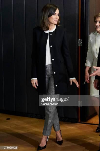 Queen Letizia of Spain attends X BBVA Integra Awards at BBVA building on November 22 2018 in Madrid Spain