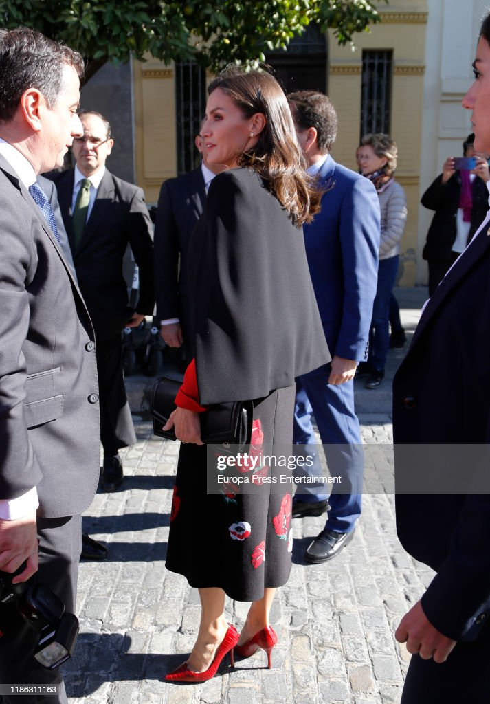 Spanish Royals Attend A Meeting With ASALE In Seville : News Photo