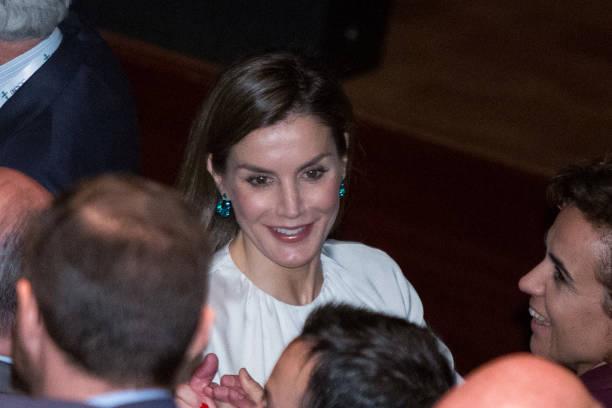 Queen Letizia Of Spain Attends Forum Against Cancer Photos