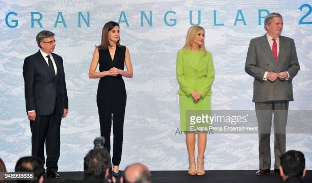 Queen Letizia of Spain Cristina Cifuentes and Inigo Mendez de Vigo attend the SM 'Barco de Vapor' and 'Gran Angular' children and youth literary...