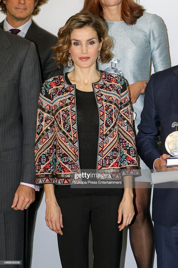 Spanish Royals Attend a Meeting with Ambassadors of the Spanish Brand : News Photo