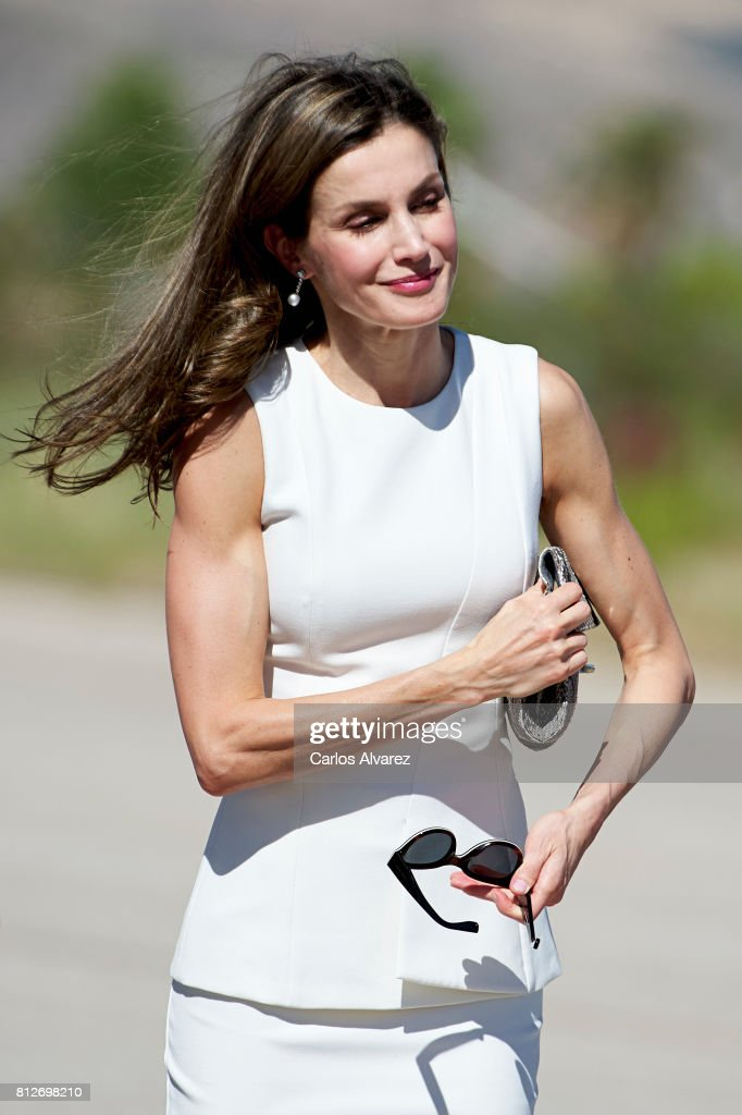 Queen Letizia of Spain departs for an official visit to United Kingdom at the Barajas Airport on July 11, 2017 in Madrid, Spain.