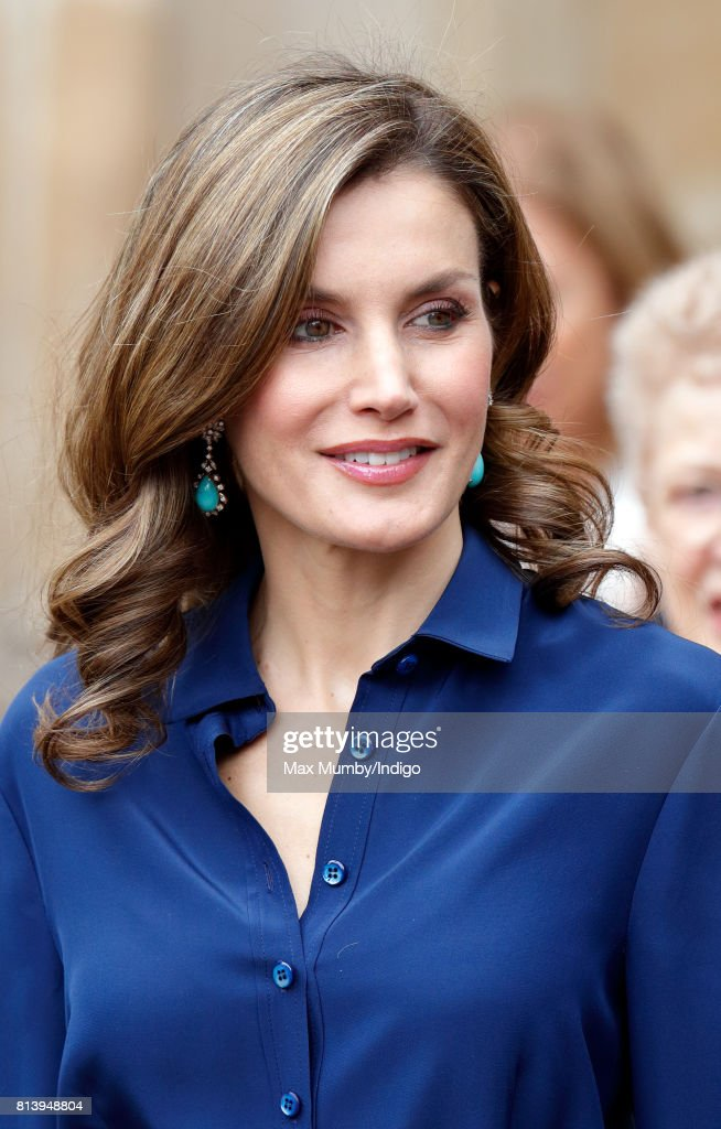 Queen Letizia of Spain departs Westminster Abbey after laying a wreath at the Grave of the Unknown Warrior during day 2 of the Spanish State Visit to the United Kingdom on July 13, 2017 in London, England. This is the first State Visit by the current King Felipe and Queen Letizia, the last being in 1986 with King Juan Carlos and Queen Sofia.