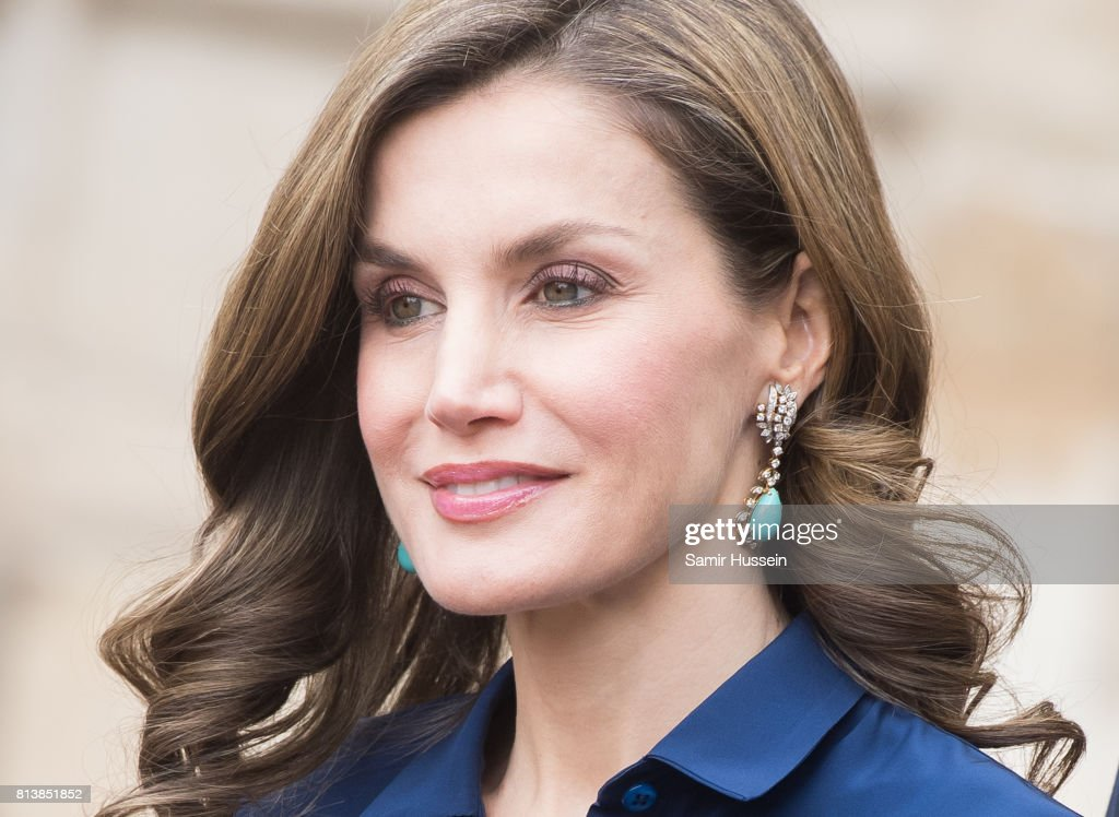 Queen Letizia of Spain departs Westminster Abbey during a State visit by the King and Queen of Spain on July 13, 2017 in London, England. This is the first state visit by the current King Felipe and Queen Letizia, the last being in 1986 with King Juan Carlos and Queen Sofia.