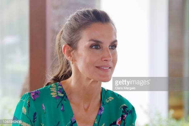 Queen Letizia of Spain during an audience with the Cercle d'Economia de Mallorca and the Cercle d'Economia de Menorca at Iberostar Cristina Hotel on...