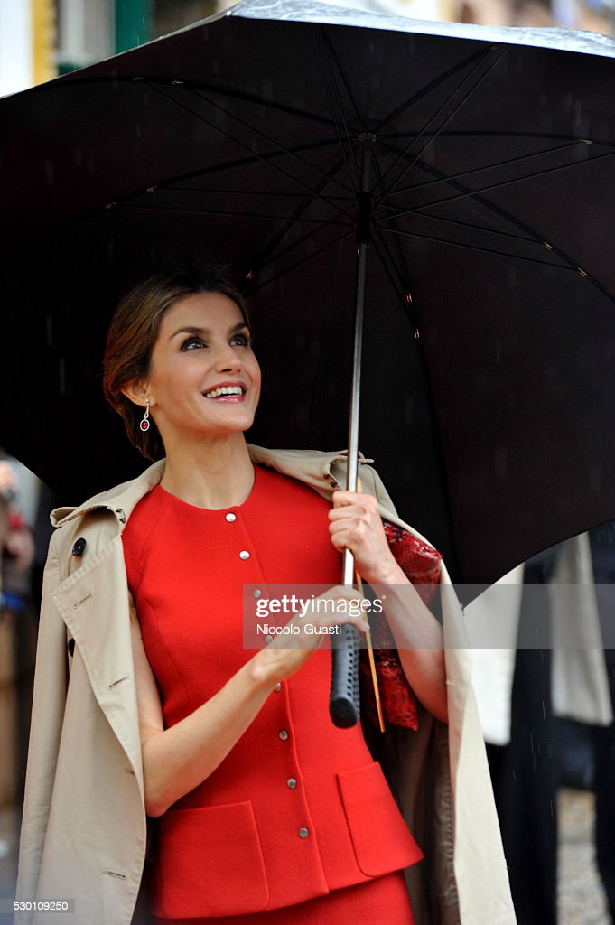 Spanish Royals Visit La Rinconada : News Photo