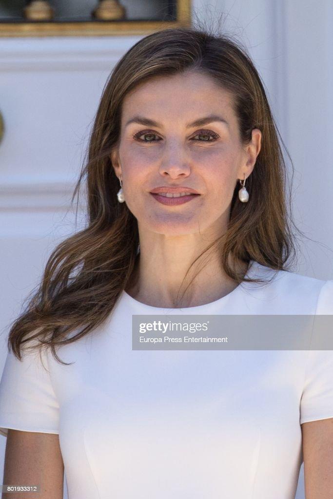 Spanish Royals Meet President of Slovenia : News Photo