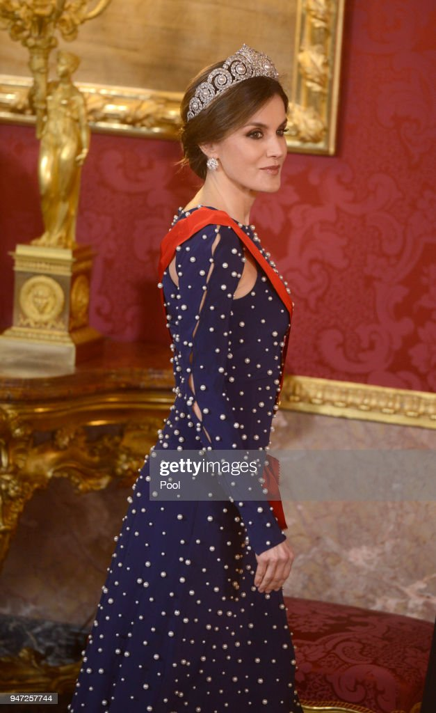Spanish Royals Host A Dinner Gala For President Of Portugal Marcelo Rebelo De Sousa : News Photo