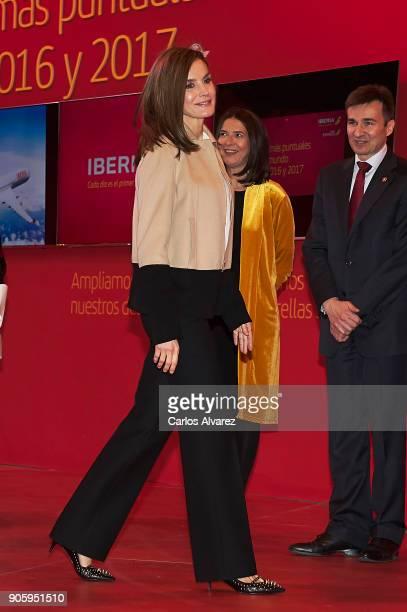 Queen Letizia of Spain inaugurates FITUR International Tourism Fair 2018 at Ifema on January 17 2018 in Madrid Spain