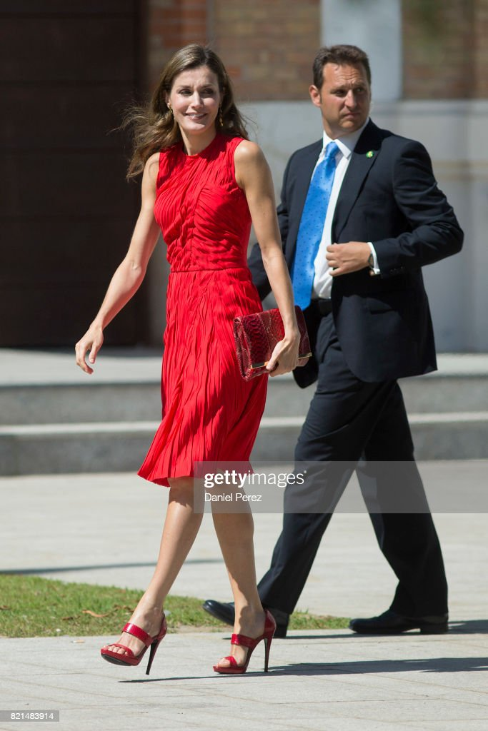 Queen Letizia Meets Directors of Cervantes Institutes in Malaga : News Photo