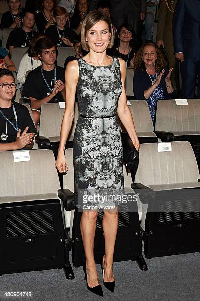 Queen Letizia of Spain inaugurates the summer courses of International School of Music of Princesa de Asturias Foundation on July 16 2015 in Oviedo...