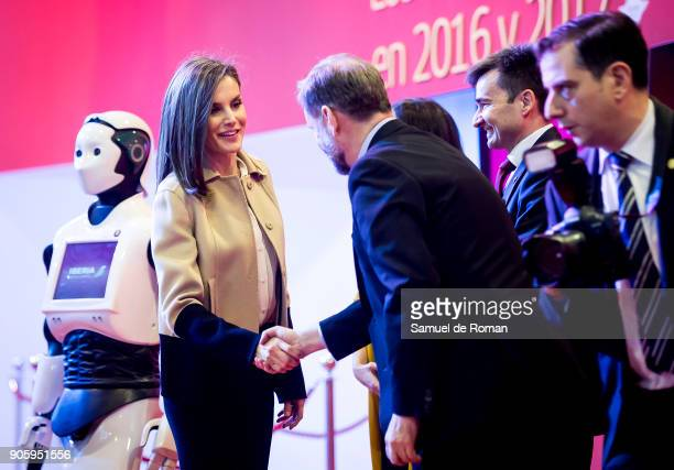 Queen Letizia of Spain Inugurate FITUR International Tourism Fair 2018 at Ifema on January 17 2018 in Madrid Prime Minister Mariano Rajoy confirmed...