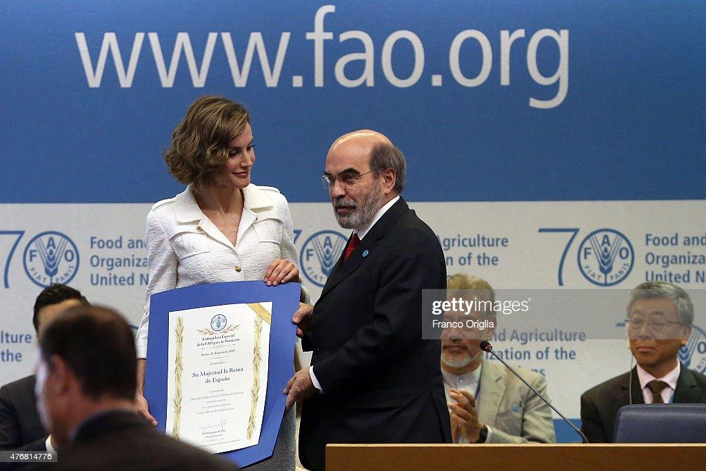 Queen Letizia Of Spain Named As FAO Special Ambassador for Nutrition : News Photo