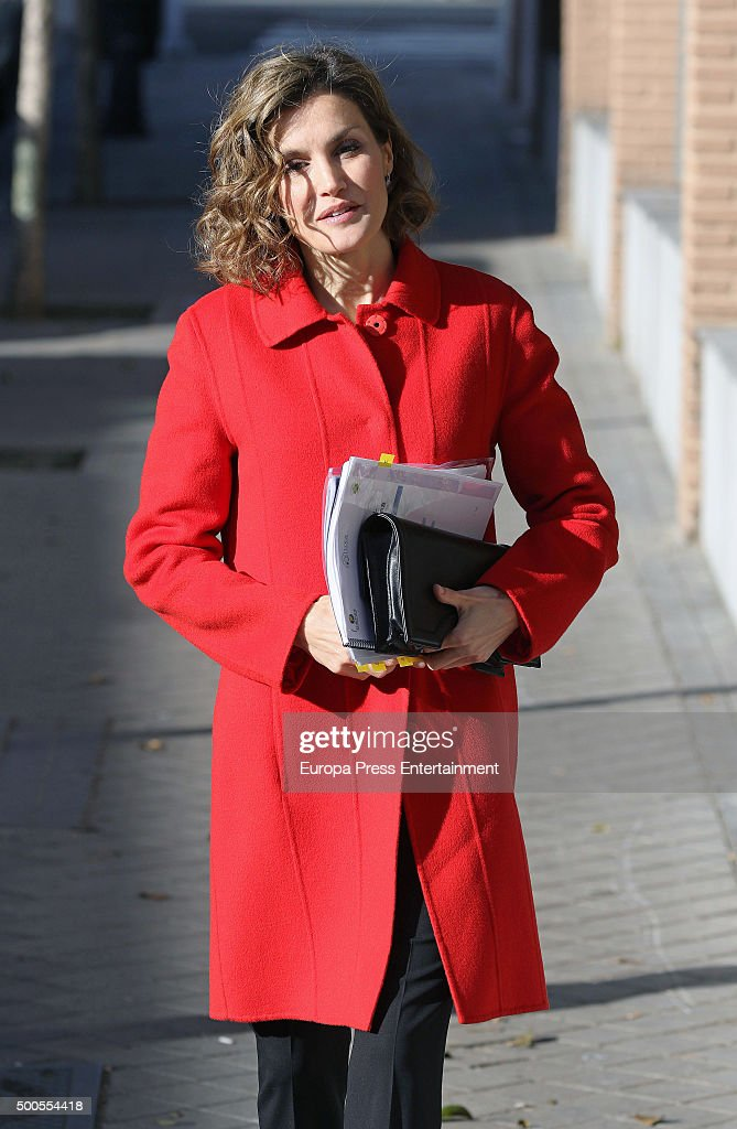 Queen Letizia Attends A Meeting At FEDER In Madrid : News Photo