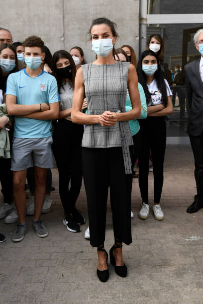 ESP: Queen Letizia Attends The Opening of The School Course 20-21