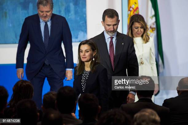 Queen Letizia of Spain King Felipe VI of Spain Spanish Minister of Education Culture and Sports Inigo Mendez de Vigo and President of Andalucia...
