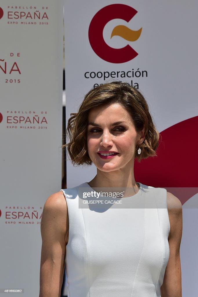 ITALY-SPAIN-ROYALS-EXPO2015 : Nachrichtenfoto