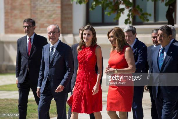 Queen Letizia of Spain Mayor of Malaga Francisco de la Torre and President of Andalucia Region Susana DiazÊ inaugurate the annual meeting with...