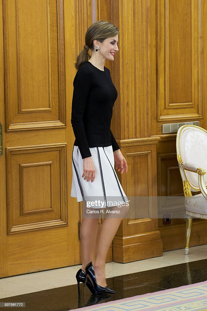 Spanish Royals Meet Medical and Scientific Personalities at Zarzuela Palace : News Photo