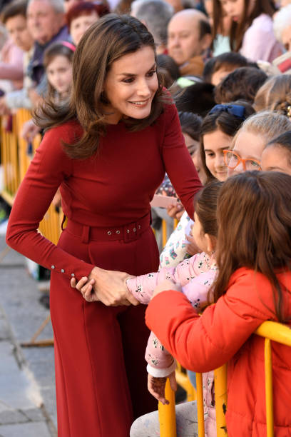 ESP: Queen Letizia Of Spain Attends The Closure Of Journalist's Seminar In Soria