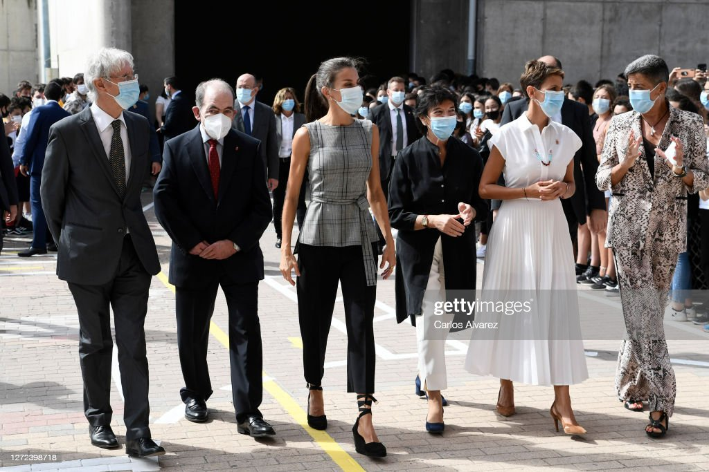 Queen Letizia Attends The Opening of The School Course 20-21 : News Photo