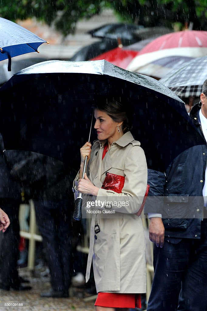 Spanish Royals Visit La Rinconada : News Photo