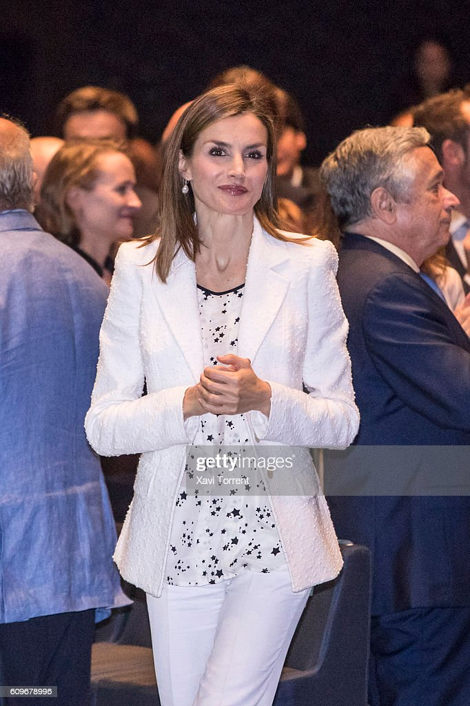 Queen Letizia of Spain Presides AECC Event On Research On Cancer International Day
