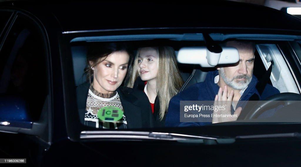 Spanish Royals Sighting In Madrid- January 06, 2020 : News Photo