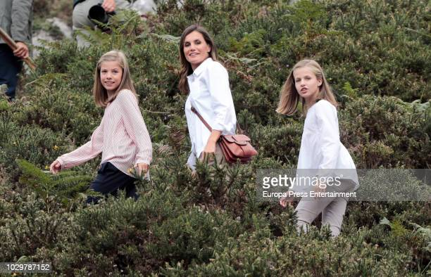 Queen Letizia of Spain Princess Leonor of Spain and Princess Sofia of Spain attend the Centenary of the creation of the National Park of Covadonga's...